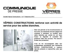 Communique presse Vepres Constructions
