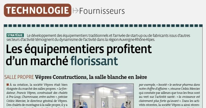 Article presse magazine Industrie Pharma