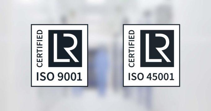 Certifications ISO pour Vêpres salles propres